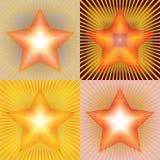 与光芒的向量星形 库存照片