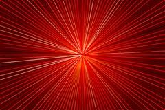 与光芒的红色背景 库存例证