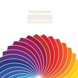 与光谱轮子的抽象背景。 向量例证