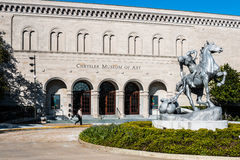 与克莱斯勒博物馆的领导人状态在诺福克, VA 免版税图库摄影