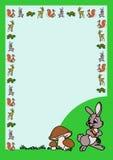 与兔宝宝的信件 免版税库存图片