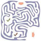 与入口和出口的迷宫 库存例证