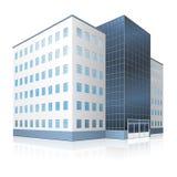 与入口和反射的办公楼 免版税库存照片
