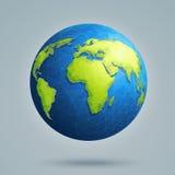 与全球性连接的多角形3D地球 免版税库存照片