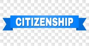 与公民身份标题的蓝色条纹 库存照片