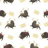 与公牛的样式 图库摄影