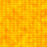 与六角形形状的橙色无缝的样式 图库摄影