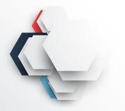 与六角形的设计模板 免版税图库摄影