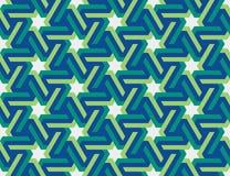 与六角星的无缝的几何伊斯兰教的装饰品 库存图片