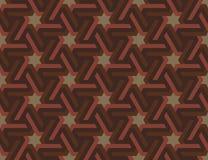与六角星的无缝的几何伊斯兰教的装饰品 免版税库存照片