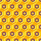 与六角的无缝的摘要3d纹理 免版税图库摄影