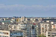 与共产主义大厦的都市横向。 免版税库存照片