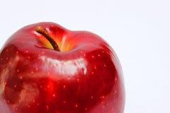 与关闭的红色苹果 库存照片