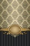 与典雅的样式的装饰葡萄酒背景 免版税库存图片