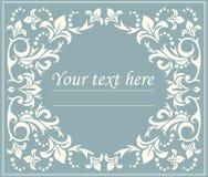 与典雅的线的花卉经典圈子框架 免版税库存图片