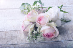 与典雅的花的明信片 图库摄影