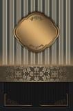 与典雅的边界的装饰背景 免版税库存照片