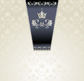 与冠光的皇家无缝的模式 免版税库存图片