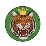 与冠吼声的老虎 向量例证