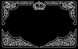 与冠的一个颜色葡萄酒背景 免版税库存照片