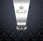 与冠的皇家无缝的模式 免版税库存图片