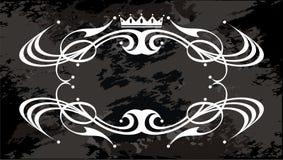 与冠的装饰标签 向量例证