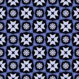 与冬天花的抽象几何样式 库存照片