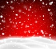 与冬天风景的季节性的,圣诞节红牌和雪 库存例证
