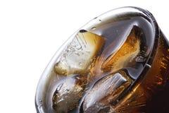 与冰块的可乐 库存图片