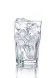 与冰块的玻璃 免版税图库摄影