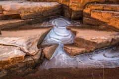 与冰天使的高沙漠砂岩 图库摄影