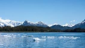与冰山的风景 免版税库存照片