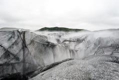 与冰山的Vatnajokull大冰川 免版税图库摄影