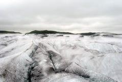 与冰山的Vatnajokull大冰川 免版税库存图片