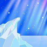 与冰岩石的北极背景 免版税图库摄影