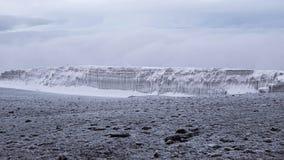 与冰川的乞力马扎罗顶视图 免版税库存照片