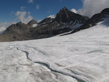 与冰川的Schesaplana 免版税库存图片