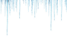 与冰柱的无缝的边界 库存图片