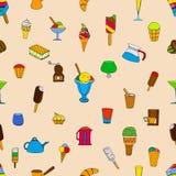 与冰淇凌的样式 皇族释放例证