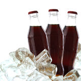 与冰的可乐饮料 库存照片