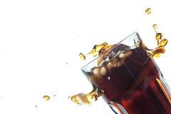 与冰的可乐 库存照片