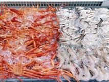 与冰的海鲜市场 免版税库存照片