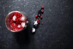 与冰的莓果饮料 库存照片