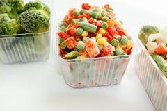 与冰的冻菜 免版税库存照片