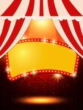 与减速火箭的赌博娱乐场横幅的海报模板 presentati的设计 图库摄影