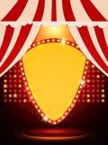 与减速火箭的赌博娱乐场横幅的海报模板 presentati的设计 免版税库存照片
