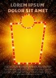 与减速火箭的赌博娱乐场横幅的海报模板 presentatio的设计 免版税库存图片