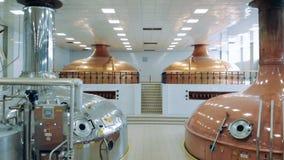 与几个罐的酿造设施 影视素材
