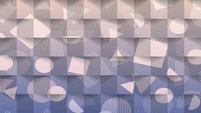 与几何元素的抽象背景 皇族释放例证