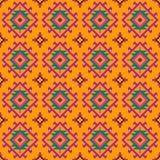 与几何元素的色的样式在种族样式 库存例证